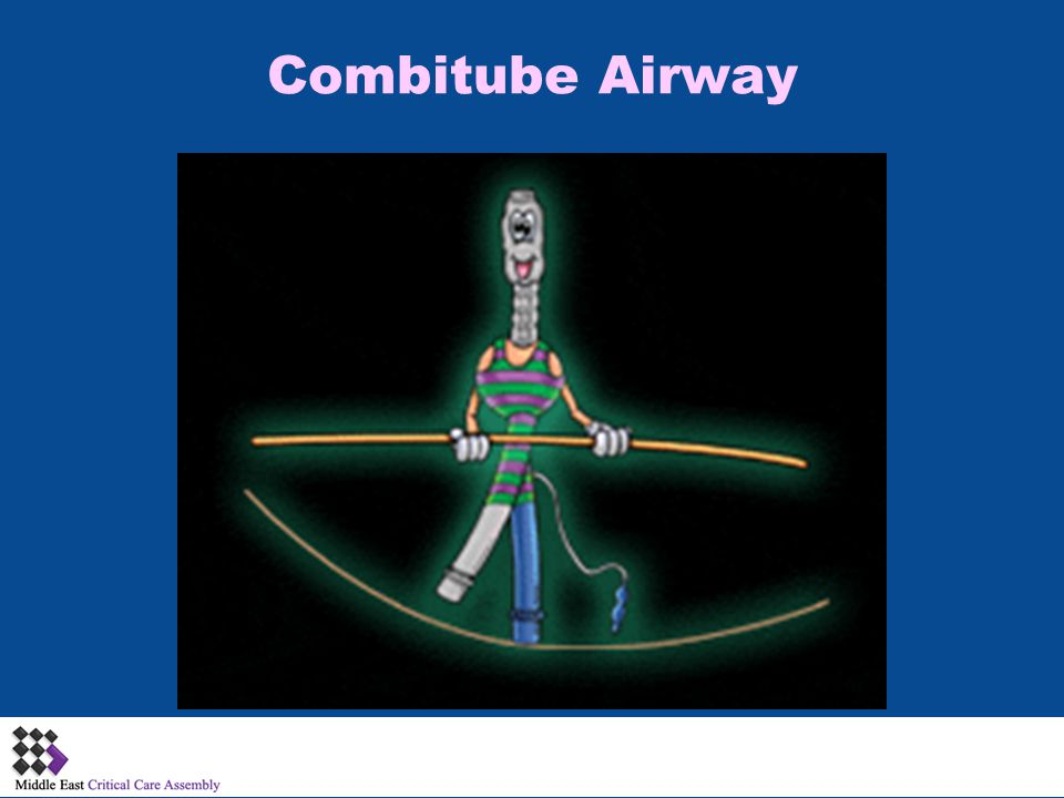 Combitube Airway Double lumen tube functions as esophageal obturator airway plus standard cuffed endotracheal tube.