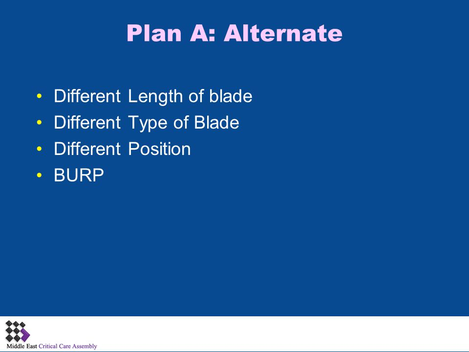 Plan A: Alternate Different Length of blade Different Type of Blade