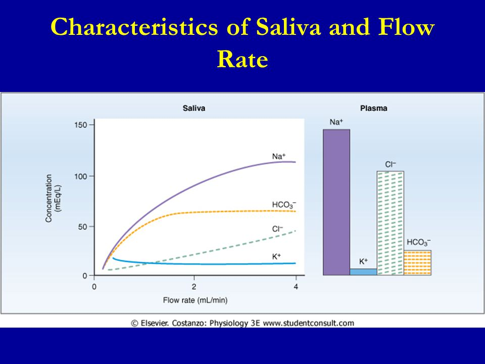 Characteristics of Saliva and Flow Rate