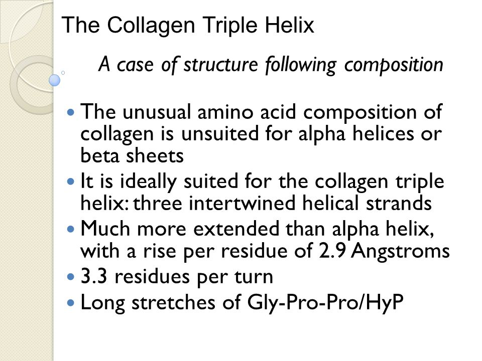 A case of structure following composition