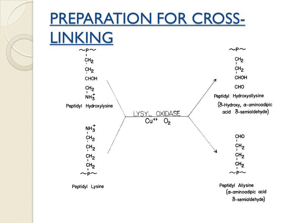 PREPARATION FOR CROSS-LINKING