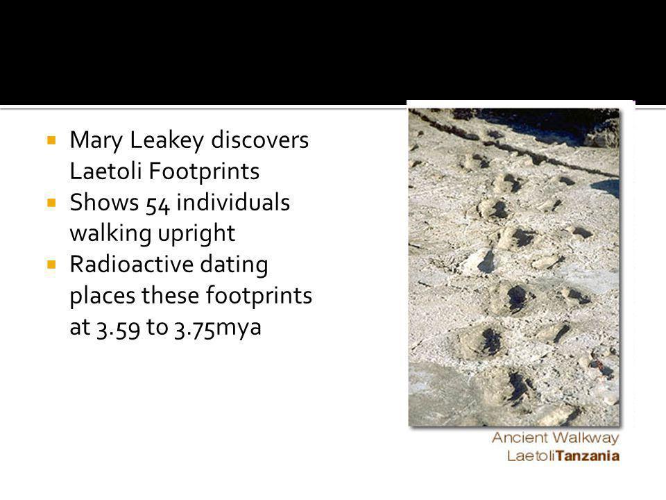 Mary Leakey discovers Laetoli Footprints