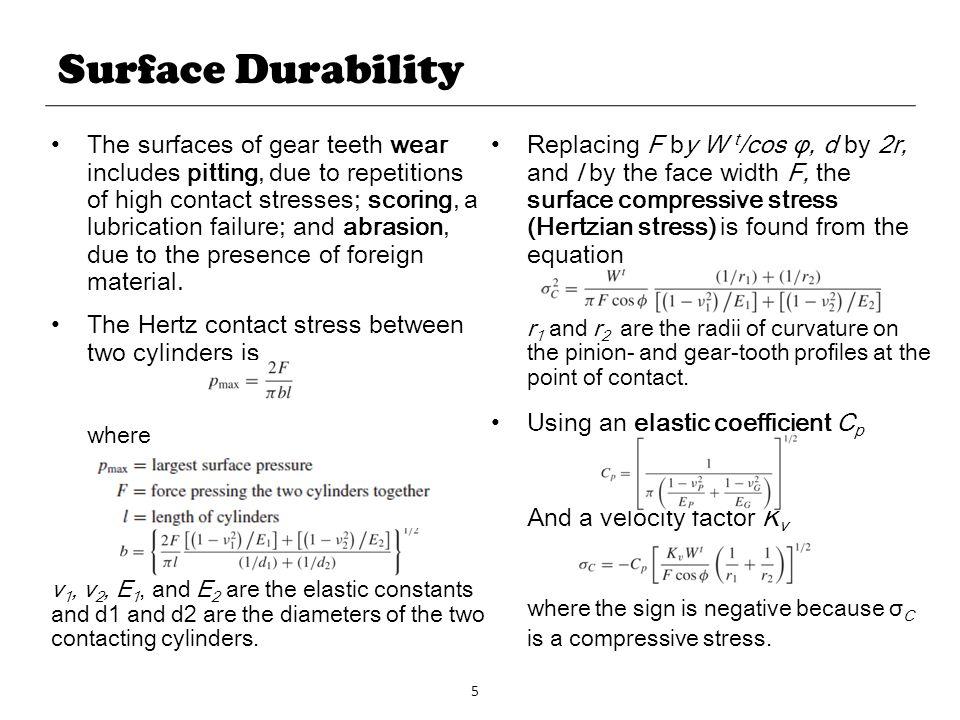 Surface Durability