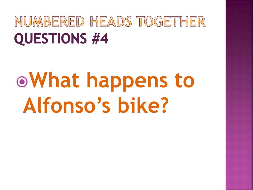 Numbered Heads Together Questions #4