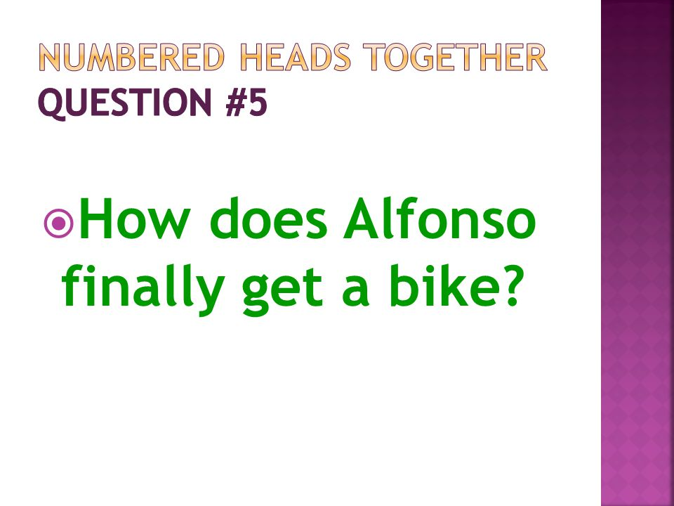 Numbered Heads Together Question #5