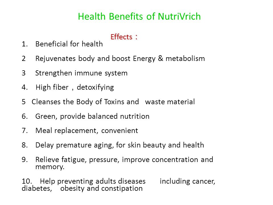 Health Benefits of NutriVrich