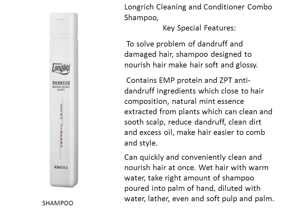 Longrich Cleaning and Conditioner Combo Shampoo, Key Special Features: