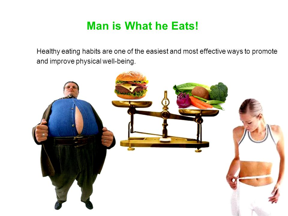 Man is What he Eats.