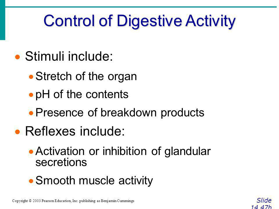 Control of Digestive Activity