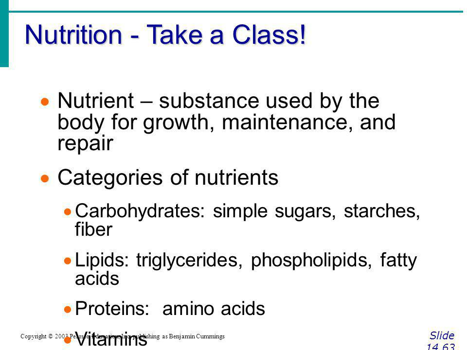 Nutrition - Take a Class!