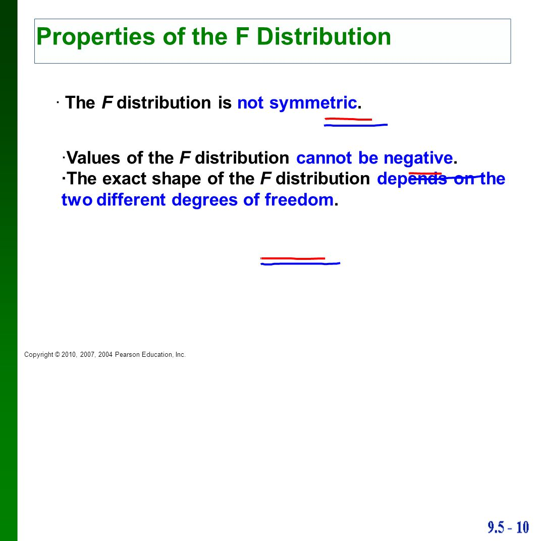 Properties of the F Distribution