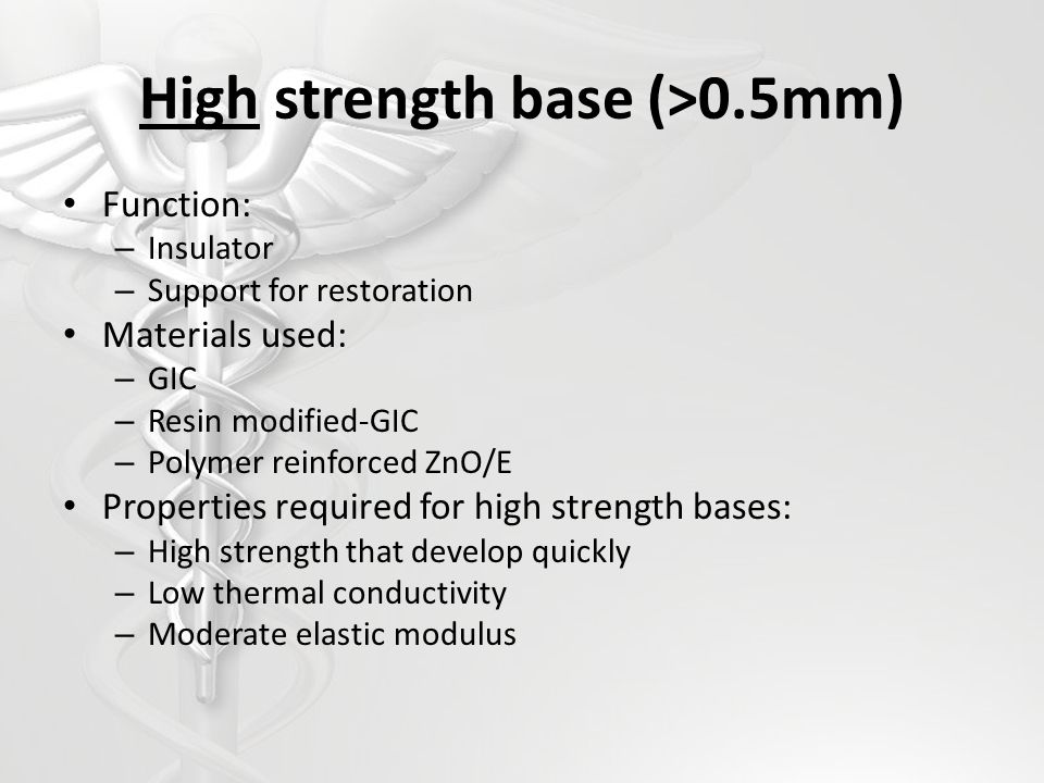 High strength base (>0.5mm)