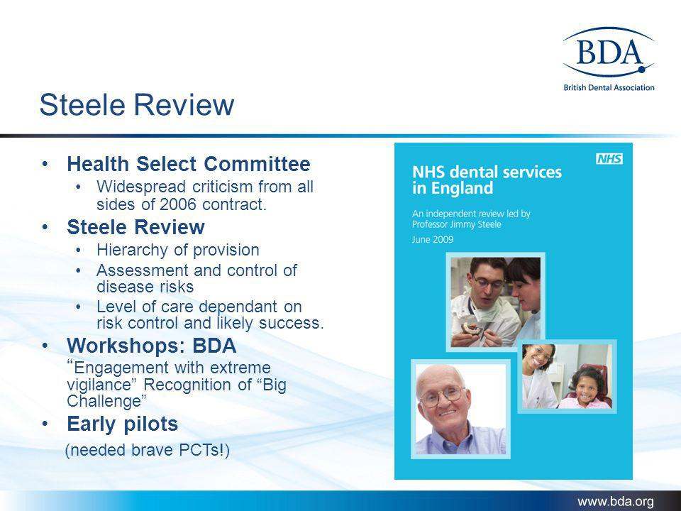 Steele Review Health Select Committee Steele Review