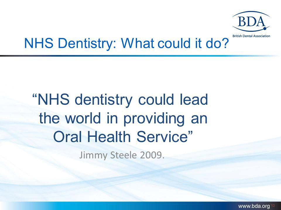 NHS Dentistry: What could it do