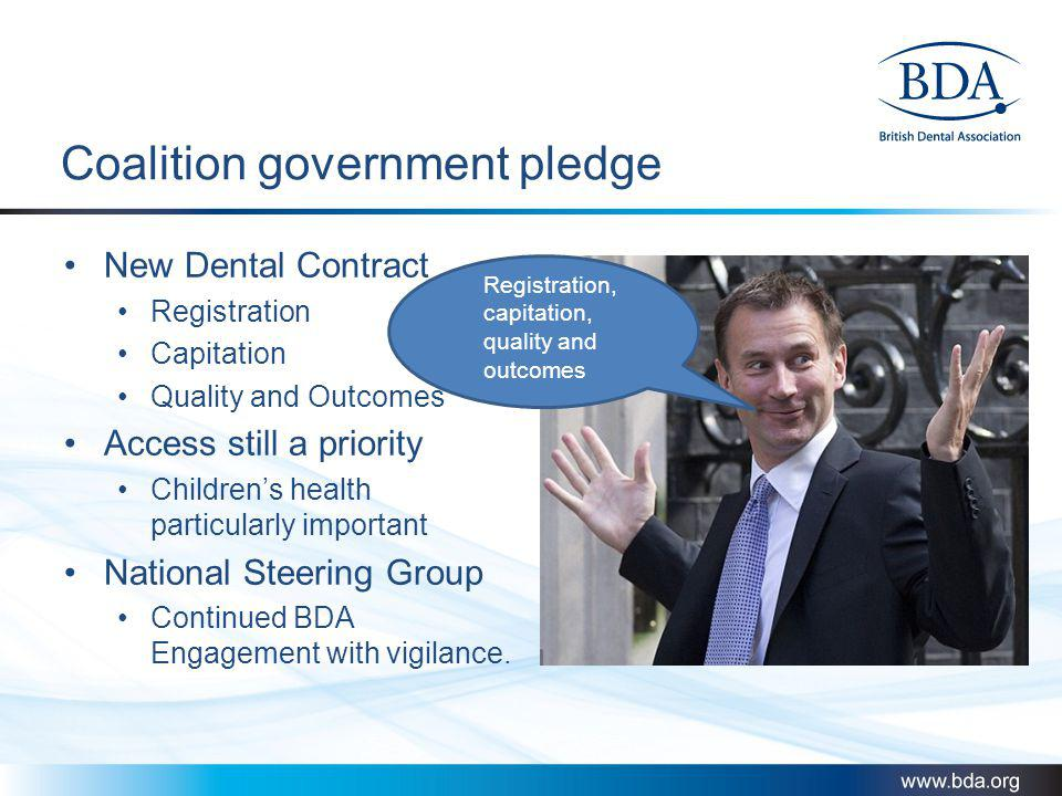 Coalition government pledge