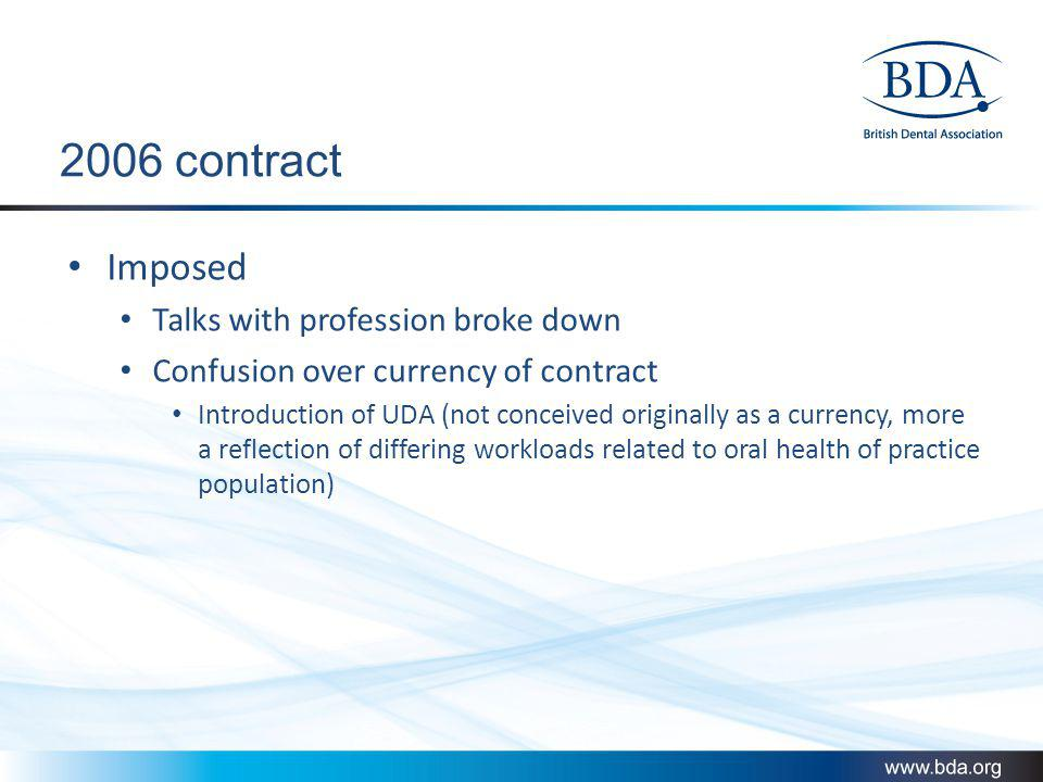 2006 contract Imposed Talks with profession broke down