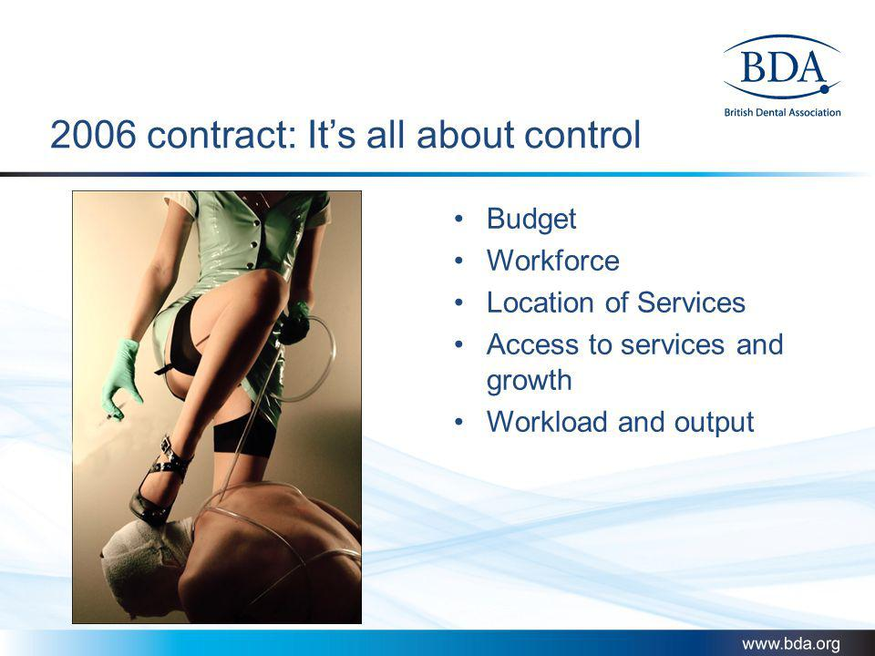 2006 contract: It's all about control