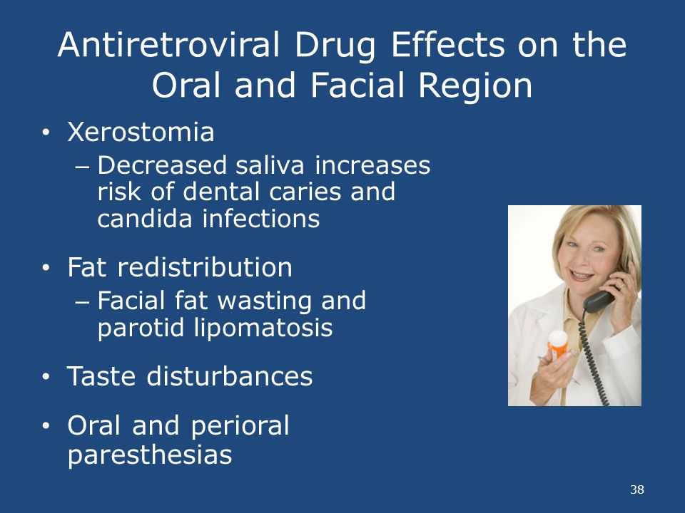 Antiretroviral Drug Effects on the Oral and Facial Region