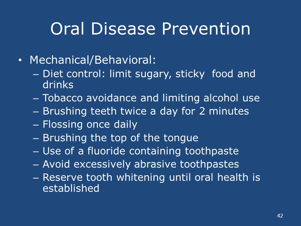 Oral Disease Prevention