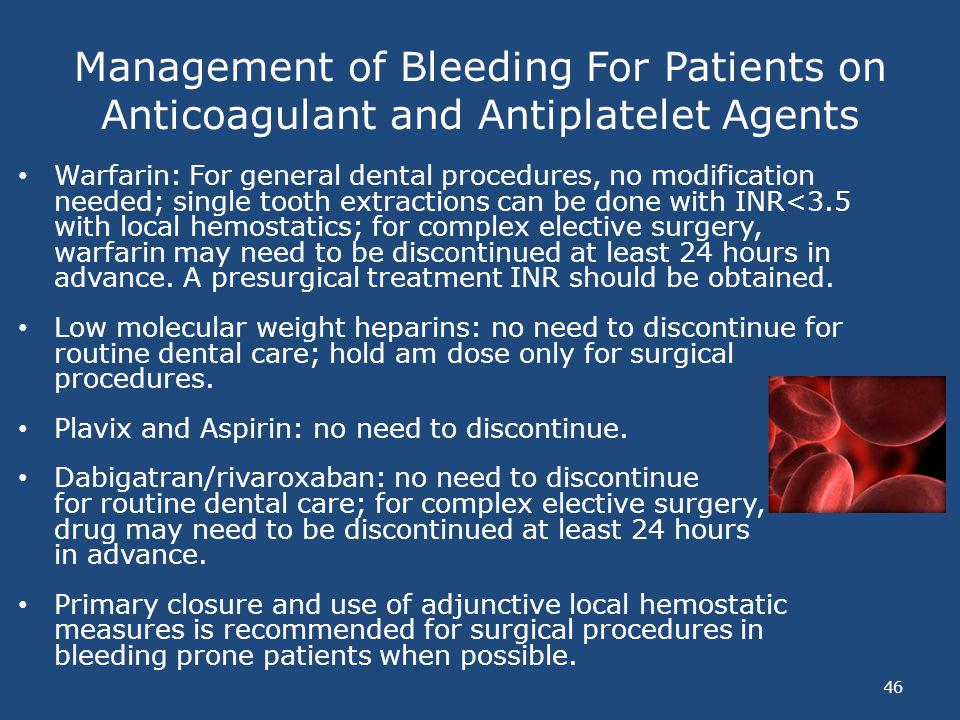 Management of Bleeding For Patients on Anticoagulant and Antiplatelet Agents
