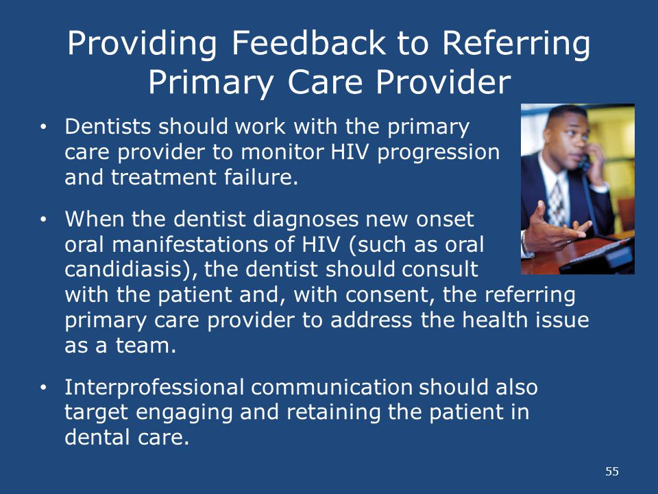 Providing Feedback to Referring Primary Care Provider