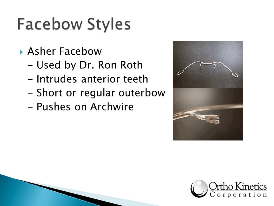 Facebow Styles Asher Facebow - Used by Dr. Ron Roth