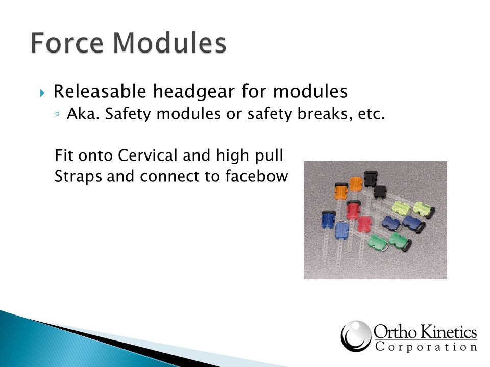 Force Modules Releasable headgear for modules