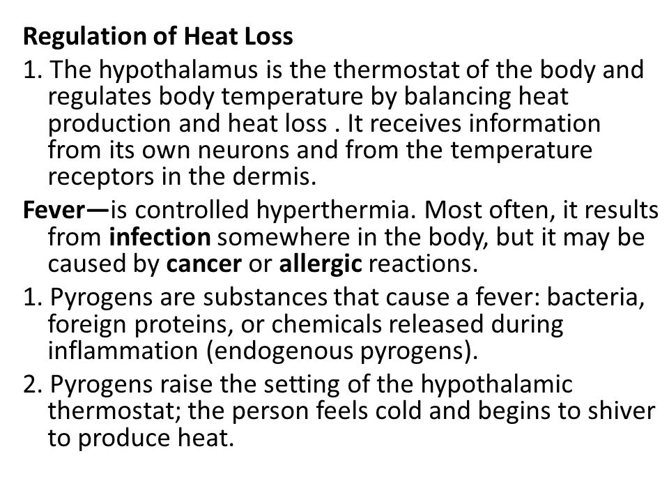 Regulation of Heat Loss 1