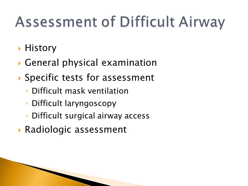 Assessment of Difficult Airway