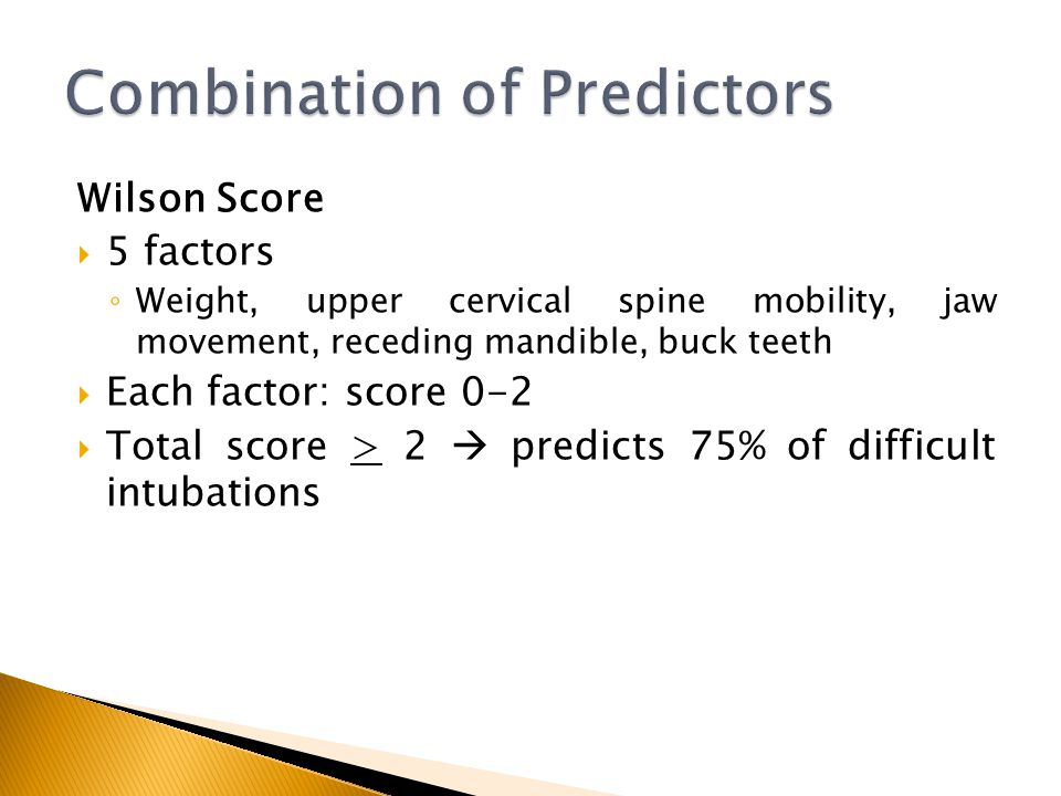 Combination of Predictors