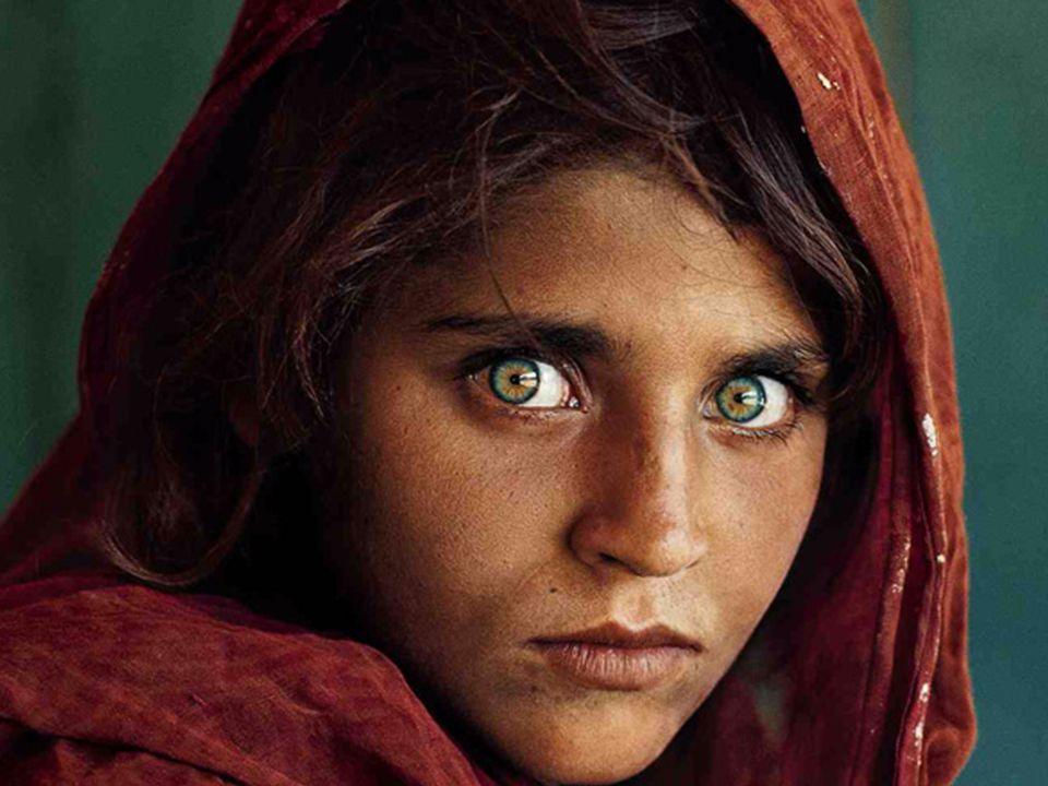 This photo of a young Afghan girl Sharbat Gula has become an iconic image over the years since it featured on the cover of National Geographic magazine in 1985.