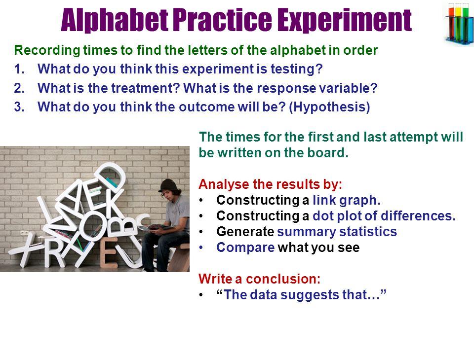 Alphabet Practice Experiment