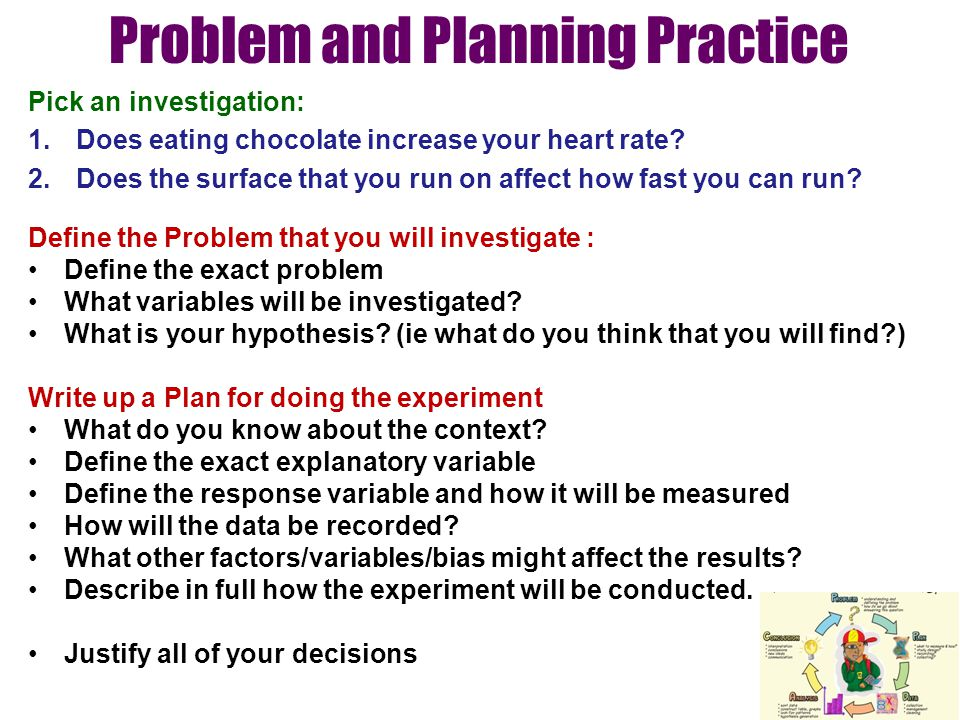 Problem and Planning Practice