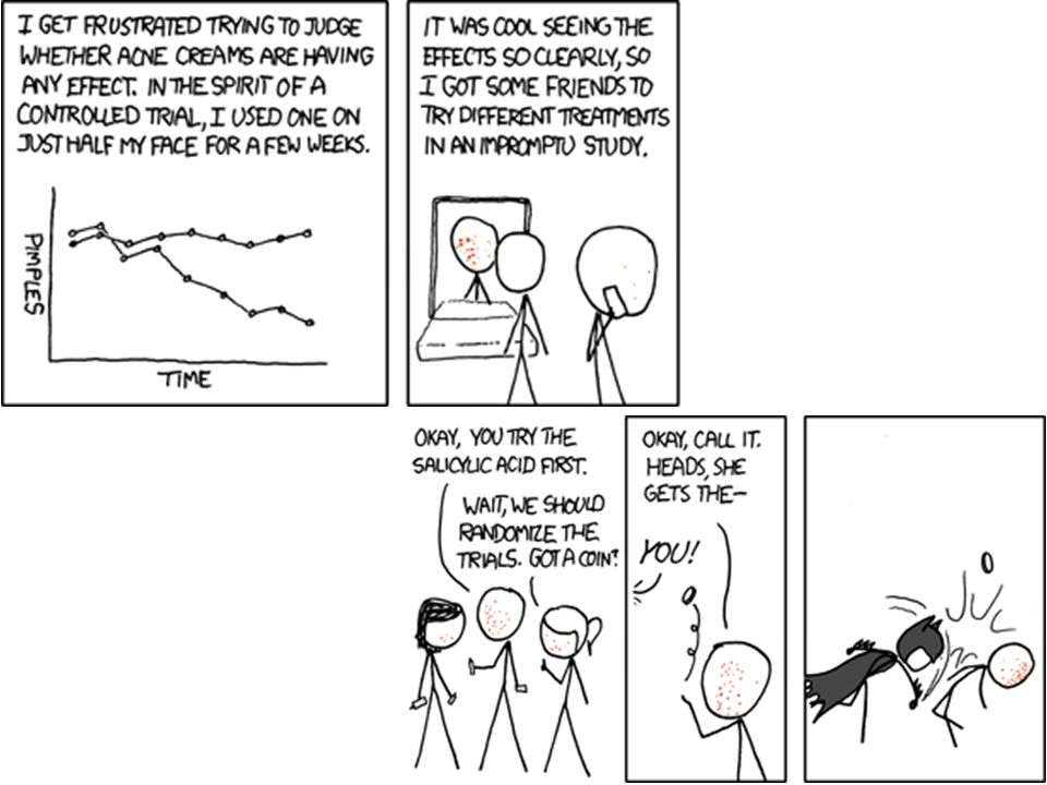 http://xkcd.com/700/ - it's a joke about the Batman villain called two-face , who has half a scarred face and half normal.