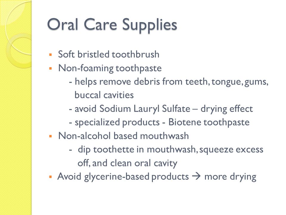 Oral Care Supplies Soft bristled toothbrush Non-foaming toothpaste
