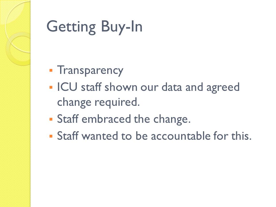 Getting Buy-In Transparency