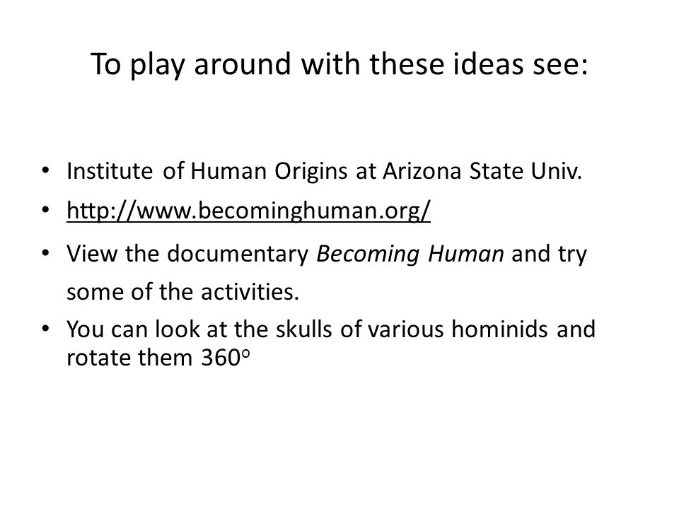 To play around with these ideas see: