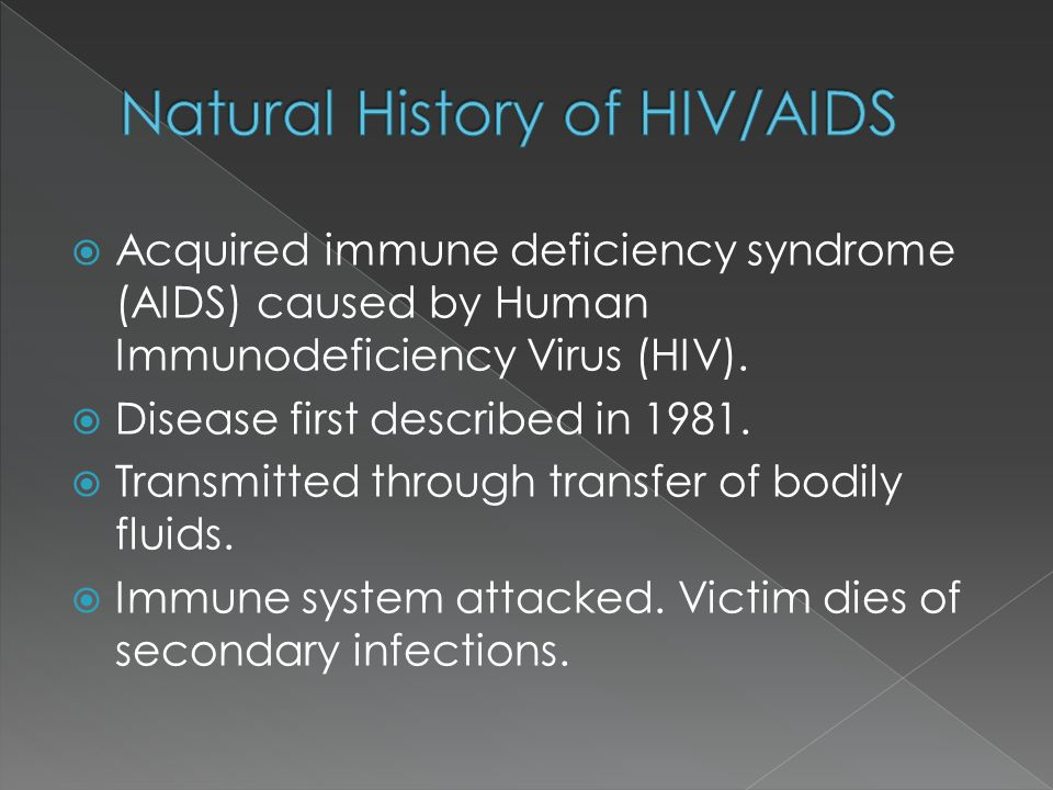 Natural History of HIV/AIDS