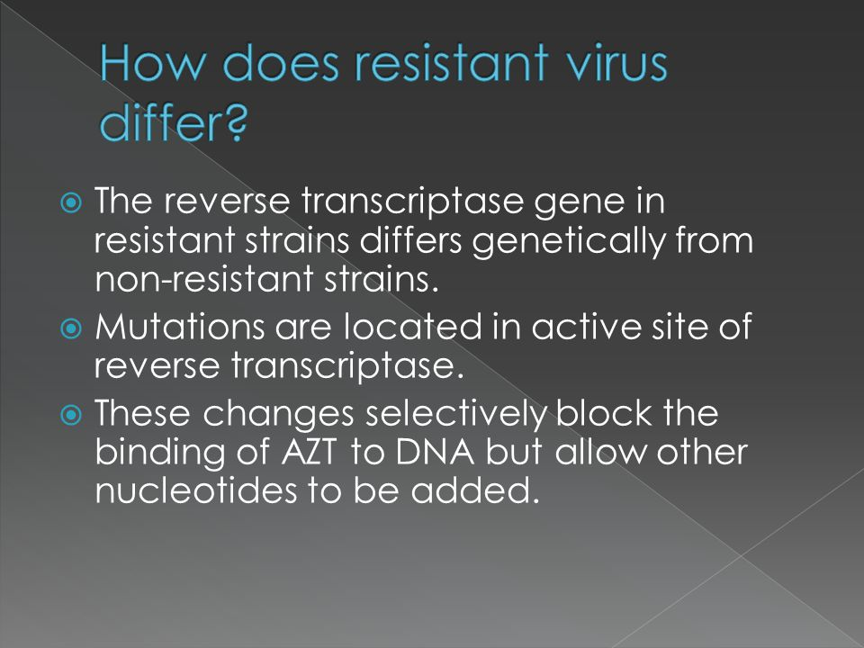 How does resistant virus differ