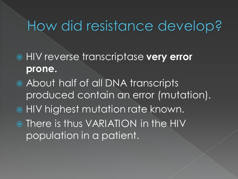 How did resistance develop
