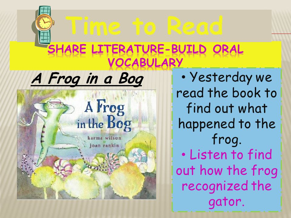 Share Literature-Build Oral Vocabulary