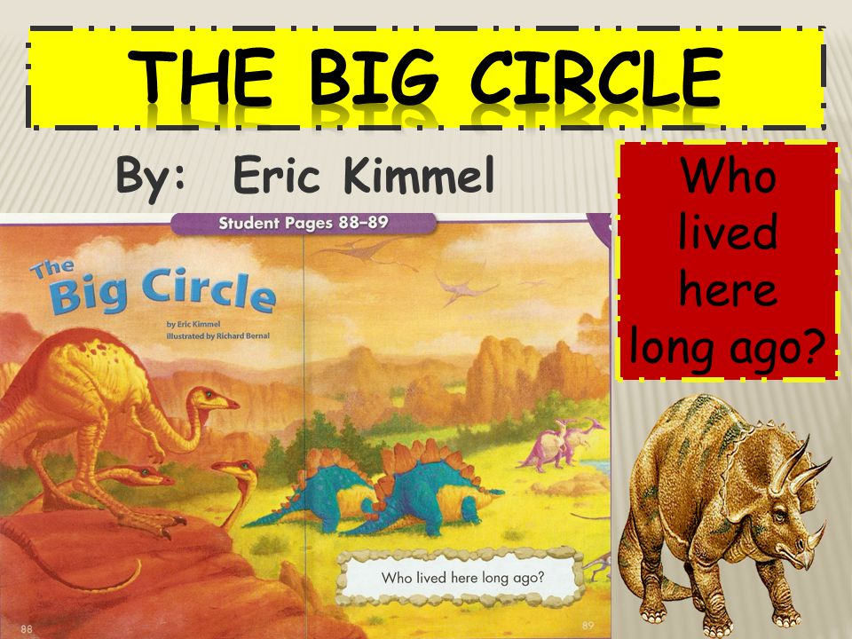 The Big Circle By: Eric Kimmel Who lived here long ago