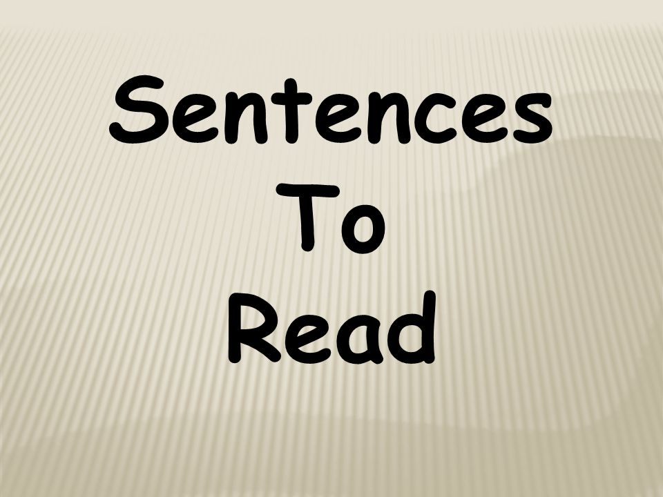Sentences To Read
