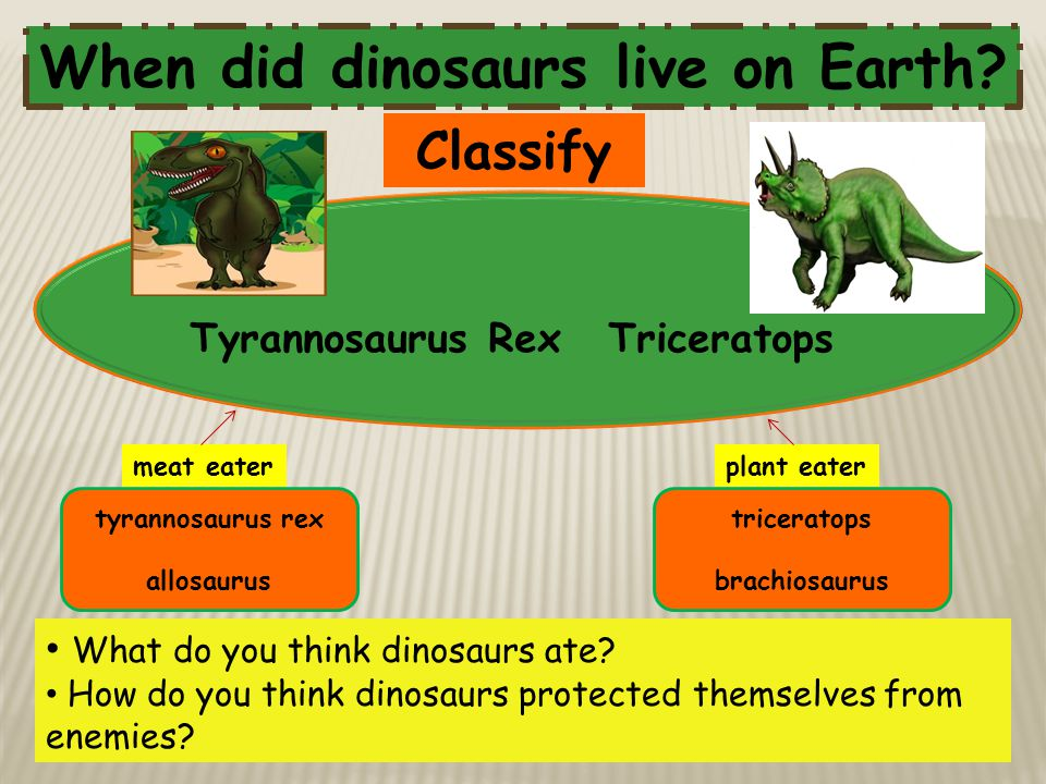When did dinosaurs live on Earth