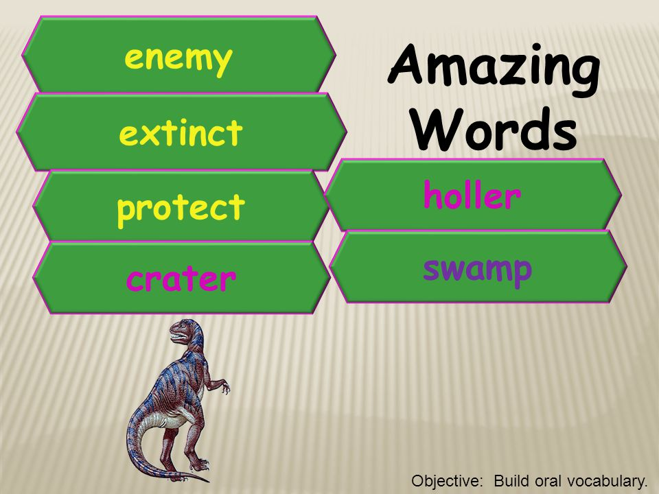 Amazing Words enemy extinct holler protect swamp crater