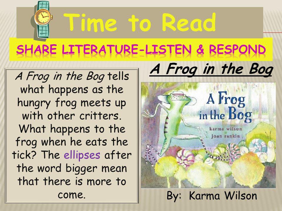 Share Literature-Listen & Respond
