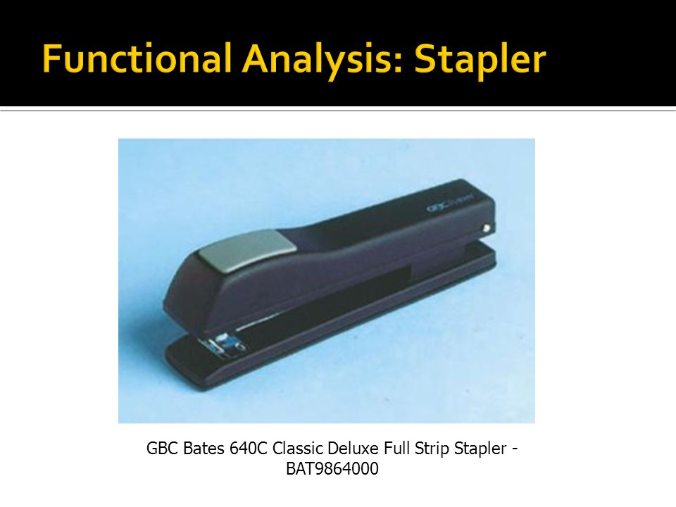 Functional Analysis: Stapler