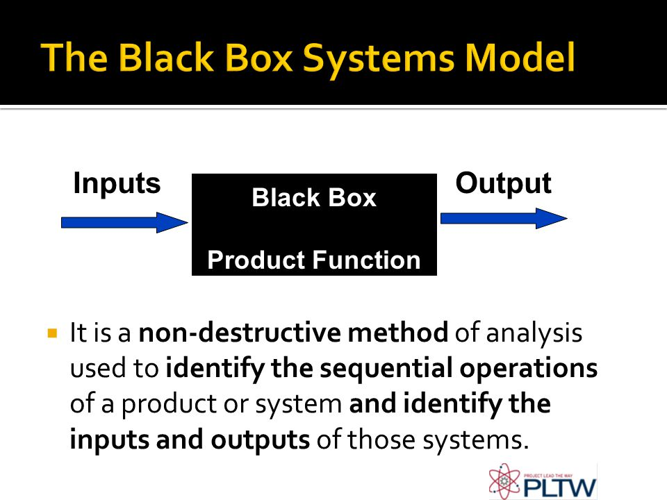 The Black Box Systems Model