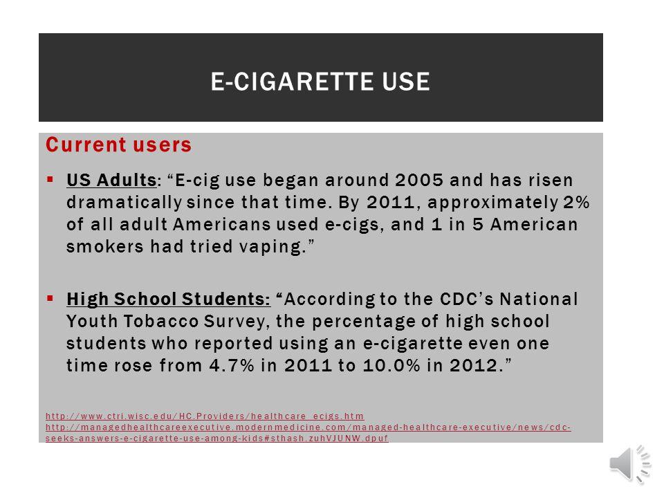 E-Cigarette Use Current users