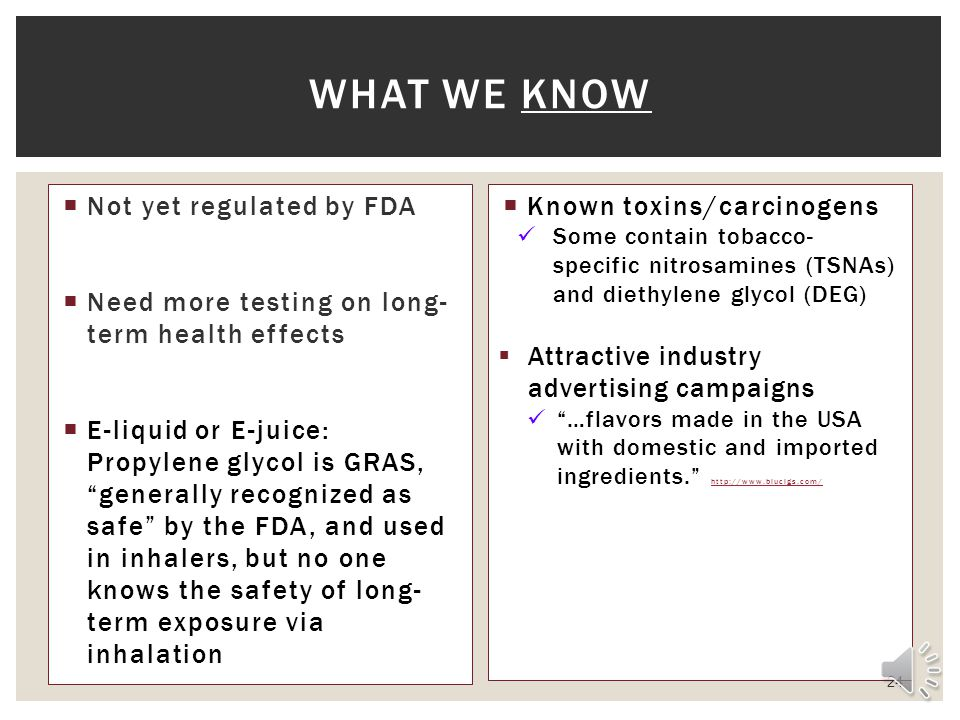 What we know Not yet regulated by FDA